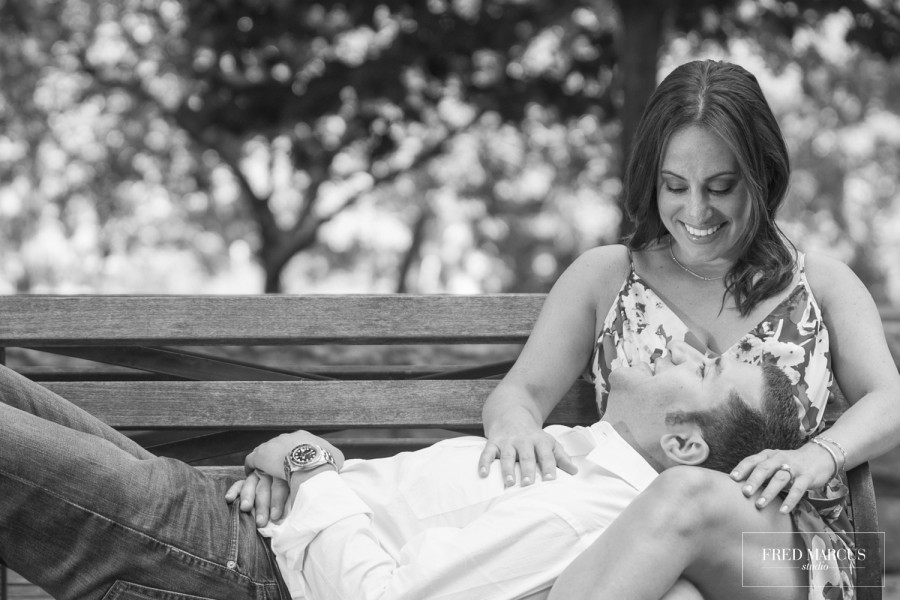 Lori & Jeffrey, Riverside Park Engagement